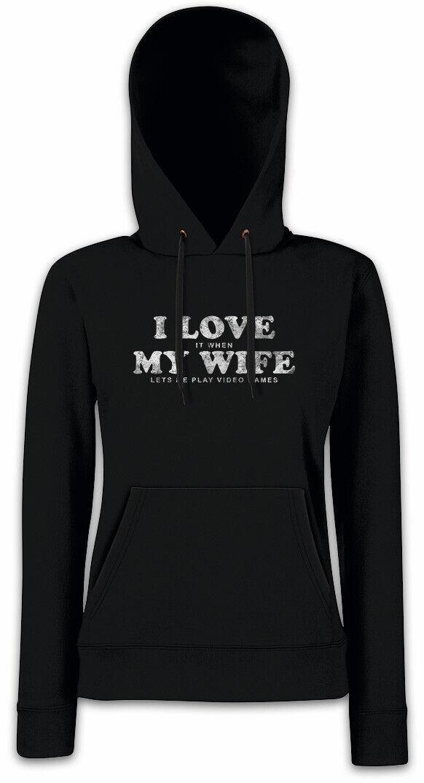 I LOVE MY WIFE Damen Hoodie Hoodie Hoodie Kapuzenpullover Fun Gamer Gaming Admin Games Ehefrau   | Deutschland Online Shop  4c1a00