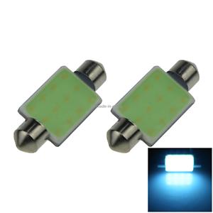 2x Ice Blue Car 39MM Festoon Light Map Blub 1 Emitters COB SMD LED 40mm I223