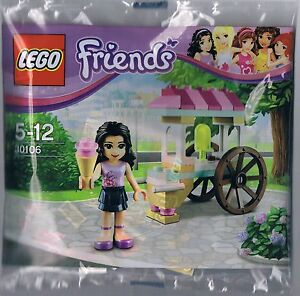 LEGO-Friends-Ice-Cream-Stand-with-Emma-Polybag-s-30106-NEW