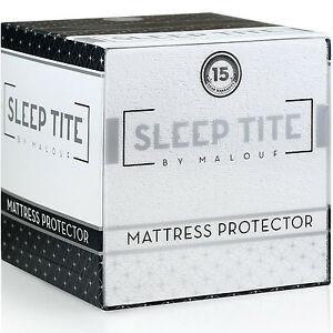 Fitted Deep Pocket Mattress Protector Hypoallergenic Cotton Pad Bedding Cover