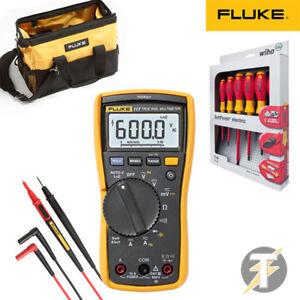 Fluke-117-Digitalmultimeter-kit2r-TL175-Kabel-C550-Werkzeugkoffer-gratis-Wiha
