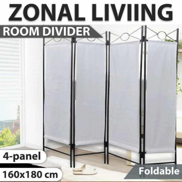 vidaXL 4 Panel Room Divider Window 160x180cm Privacy Folding Blockout Durable