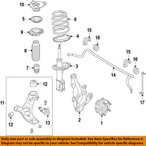 hyundai oem 15 17 santa fe front suspension strut 546614z200 ebay rh ebay com hyundai tucson suspension diagram hyundai matrix suspension diagram