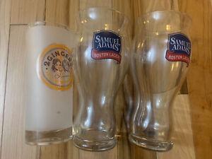 2 Samuel Adams Boston Lager Sensory 16oz Glasses, For The Love Of Beer & Gingers