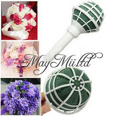 Good 1X Foam Bouquet Holder Handle Bridal Floral Wedding Flower DIY Decoration