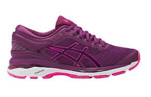 Asics-Women-039-s-GEL-KAYANO-24-W-D-Wide-Type-Running-Shoes-PRUNE-PINK-GLOW-WHITE