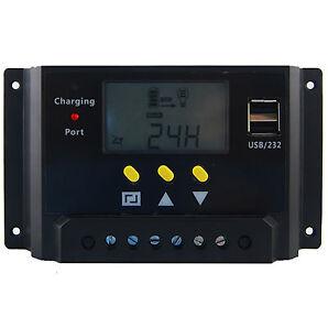20A 12V 24V Solar Laderegler Solarregler Solarpanel Controller Regulator USB