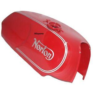 Norton-Commando-Roadster-reservoir-de-carburant-essence-gaz-en-acier-peint-Dans