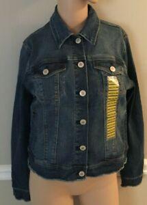 Nine-West-Jeans-Sarah-Outerbanks-Blue-Denim-Jean-Jacket-Size-S-M-L-or-XL-NWT