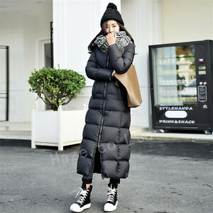 Womens Duck Down Jacket Thicken Coat Golilla Ankle Full