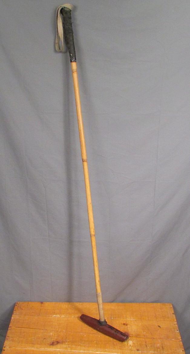 Vintage JR 52 Wood Polo Mallet Skene Pattern Bamboo Shaft 52  Equestrian Sports