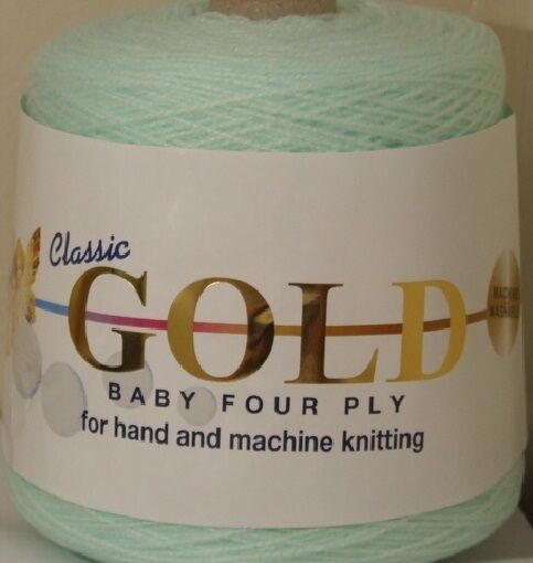 Baby Wool,  4 Ply Cone Hand Or Machine Knitting Yarn ,Woolcraft Gold 400g Cone