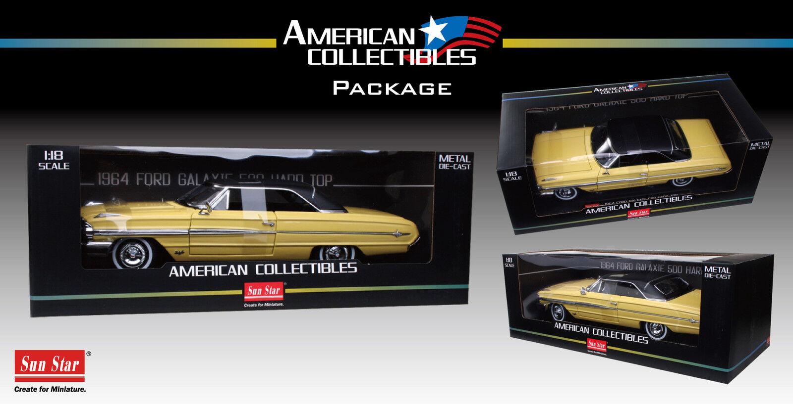 1964 Ford Galaxie 500 giallo 1 18 SUNSTAR 1444