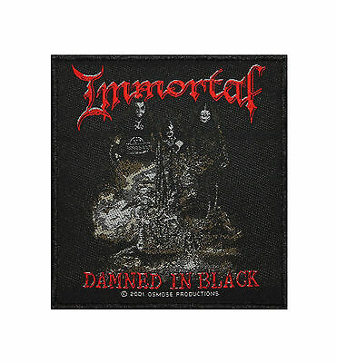 Immortal Damned In Black Black Metal Band Woven Badge Applique Patch