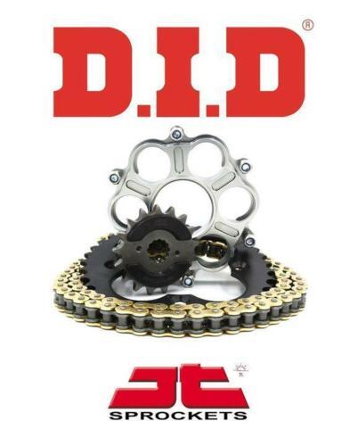 Ducati 1200 Diavel 11-15 DID VX Gold X-Ring /'Quiet/' Chain /& Sprocket Kit