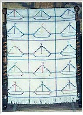 Heart Design Swedish Weave Afghan Pattern #2