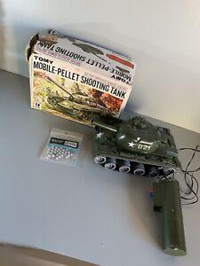 1960' Vintage Mobile-Pellet Shooting US Tank, by Tomy - Made in Japan Very Rare
