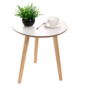 Image Is Loading Modern Round Coffee Tea Table Wood Furniture Home