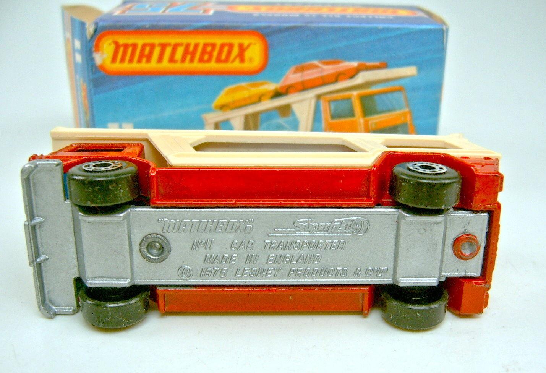 MATCHBOX superfast Nº 11c car transporteur transporteur transporteur rouge argenté plaque de sol rare   De Nouveaux Produits 2019    Excellent (dans) La Qualité    Apparence Attrayante  98818b