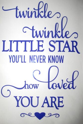 WALL STICKERS A4 size Vinyl Sticker Twinkle Twinkle Little Star Baby Nursery
