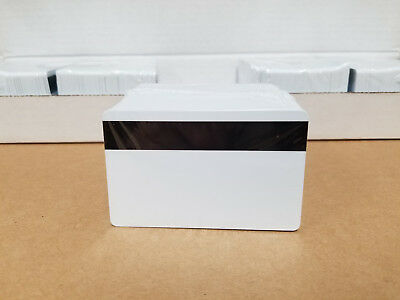 CR80 .30 Mil New Sealed 500 x White Ultra PVC Cards HiCo MagStripe 3 Track