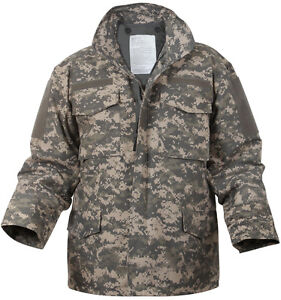 ACU Digital Camo M-65 Field Coat Army M65 Jacket w  Jacket Liner  51bf1ac667e