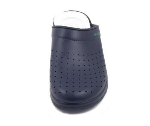 Ciabatta Pantofola Sanitaria Uomo in pelle Blu scuro Sanital Light 754