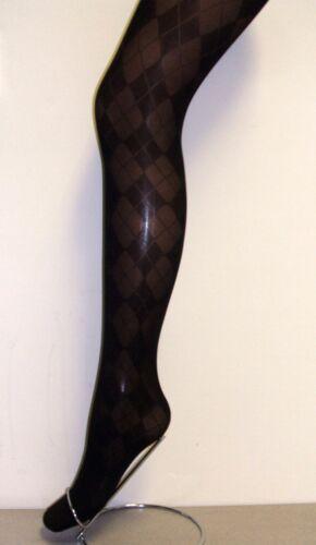 Filles 1 paire partie//occasion noir argyle design collants