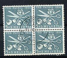 Switzerland 1956 SG#571, 5c Pro Patria Used Block Cat £7.60 #A58527