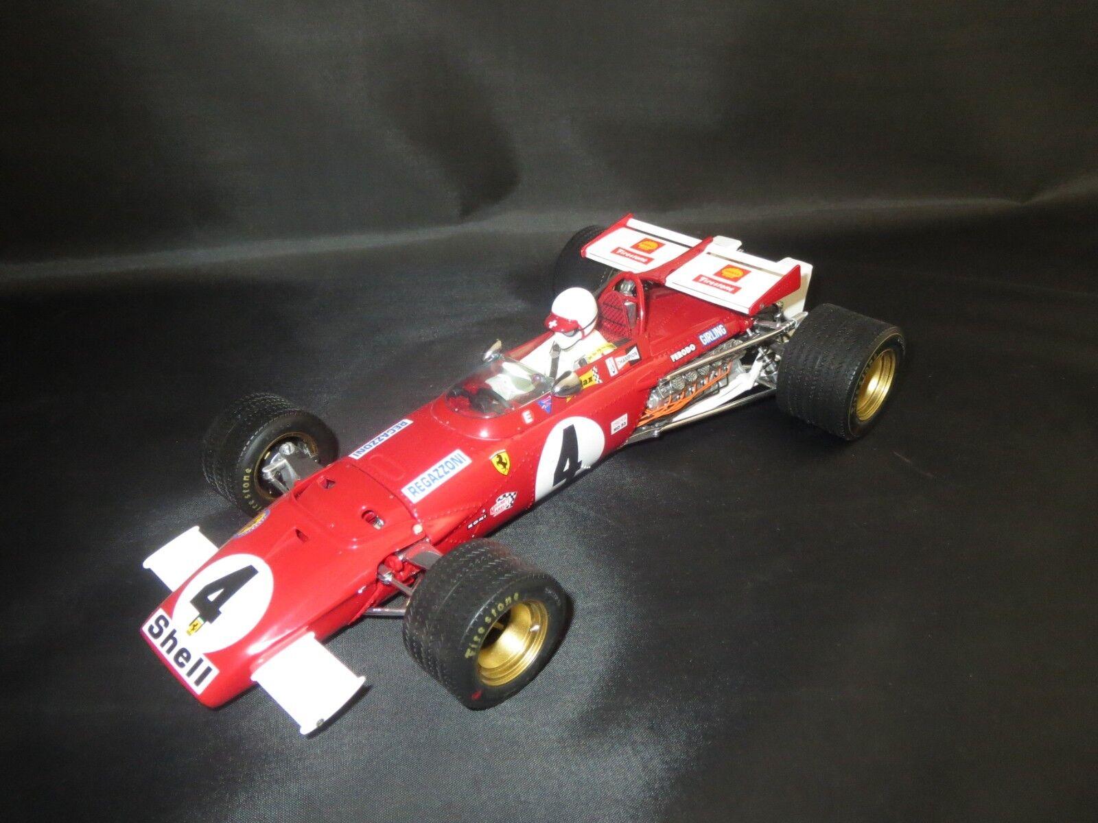 Exoto Motorbox Ferrari 312b GP Britain (Clay Regazzoni  4) 1 18 Sans VP.