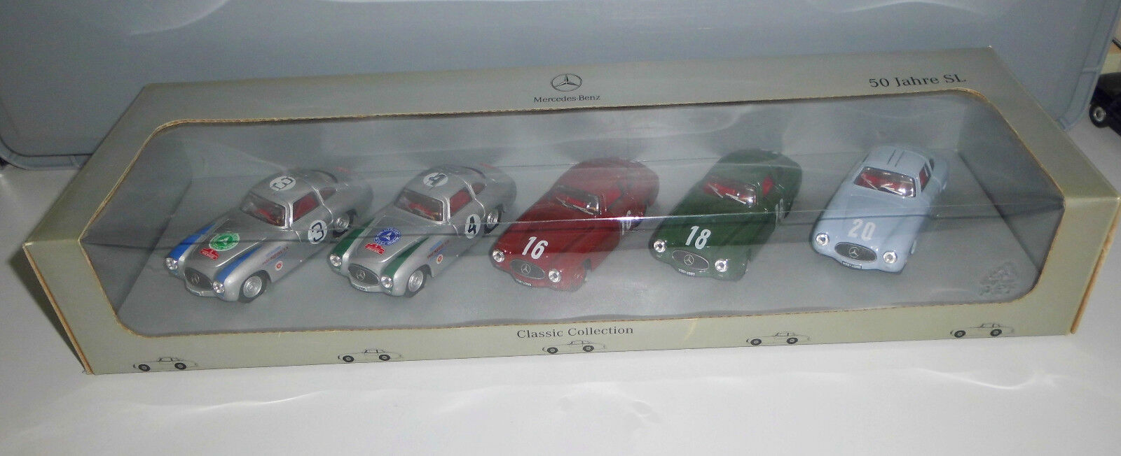 MERCEDES CLASSIC COLLECTION 1:43, 50 anni SL IN SCATOLA ORIGINALE