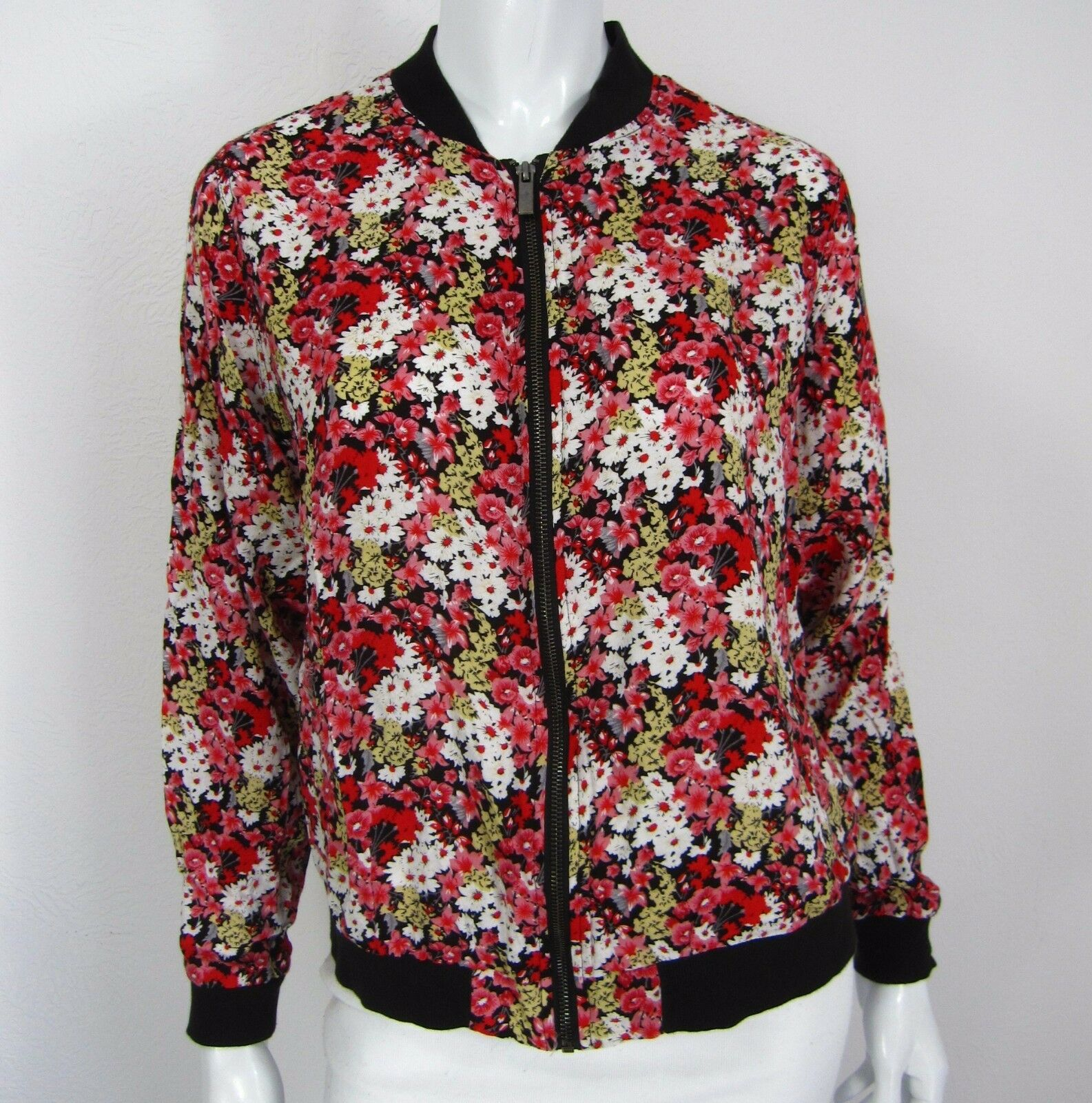 PAPER TREE LONG SLEEVE TOP BLOUSE Plus SIZE 1X Red Floral