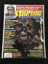 STAR WARS PETER MAYHEW CHEWBACCA 1986 STARLOG MAGAZINE WOOKIE TALK !!! NICE