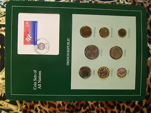Coin-Sets-of-All-Nations-France-French-1981-1990-UNC-5-Francs-1990-w-card