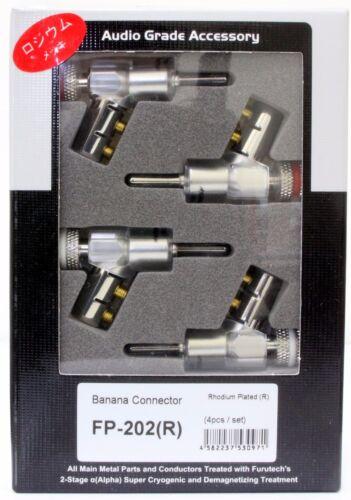 4pcs Genuine FURUTECH  banana plug connector Rhodium FP-202 NEW box R
