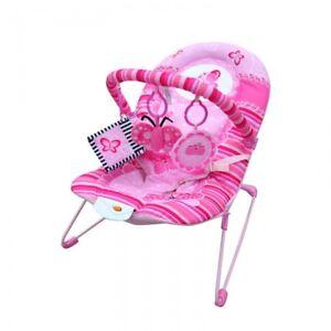 Baby-Musical-Vibration-Bouncer-Chair-Rocker-Pink-Butterfly