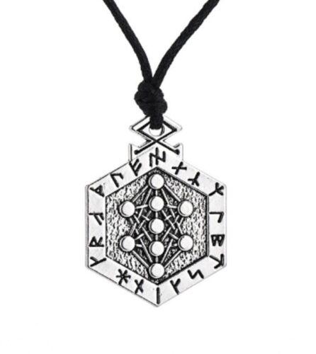 Yggdrasil Armanen Viking Runes Talisman Pendant Kabbalah Necklace Men Tibetan