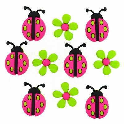 Sew Cute Labybugs Dress it up Buttons craft Scrapbooking