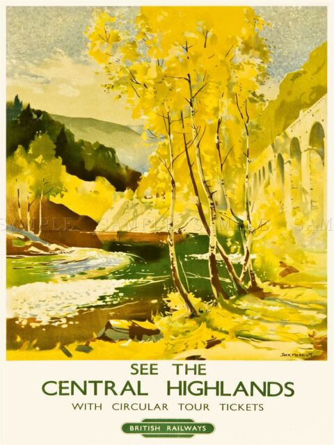 PRINT ADVERT BRITISH RAILWAYS CENTRAL HIGHLANDS ROVER TREES COUNTRYSIDE NOFL0011