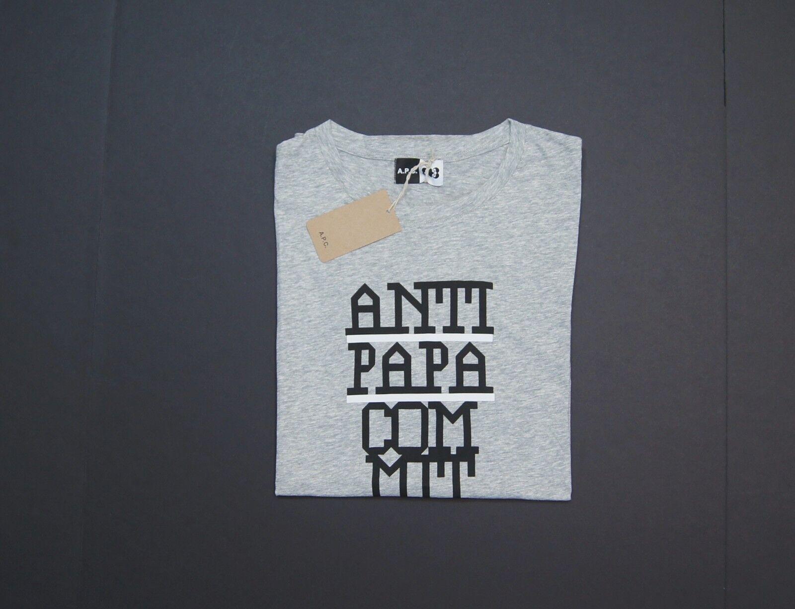 A.P.C x M M Paris Anti-Papa Comittee Graphic Crewneck T-Shirts NEW NWT