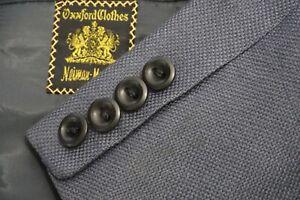 Oxxford Clothes Cummings Gray woven Sport Coat Jacket Sz 41