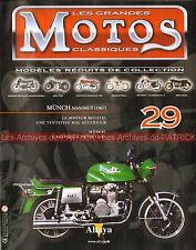 MOTOS CLASSIQUES 29 MÜNCH 1200 Mammut Mammouth 1967 Moteur Rotatif WANKEL