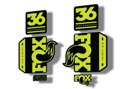 Green FOX 36 Factory Performance 2017 Fork Suspension Decal Sticker Adhesive L
