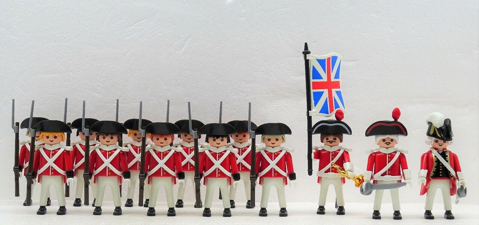 13 Habits Rouges Soldats Playmobil pour Garde Super Set 5  - Royal Marine Sangle  service attentionné