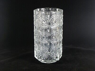Riihimaen Lasi Oy Riihimaki Clear Glass 'rengas' Vase Designed By Tamara Aladin For Improving Blood Circulation Glass
