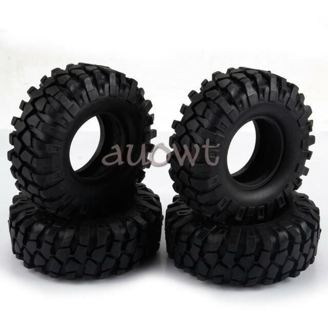 RC Rock Crawlers 1 10 Wheels Tyres 96mm/ 100mm/108mm for HPI RC Cars Truck Black