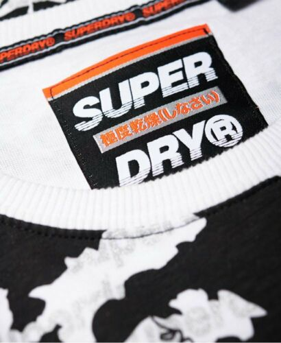 XXXL Superdry Crew Neck T-Shirt Men/'s International Monochrome White  M