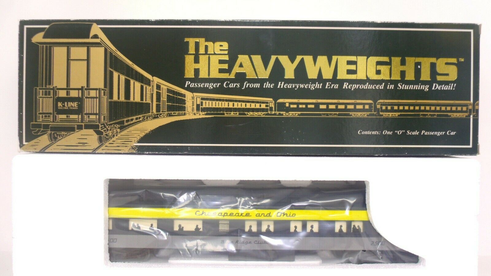 K-Line Heavyweight O Chesapeake Ohio C&O 2500 Lighted Passenger Observation Car