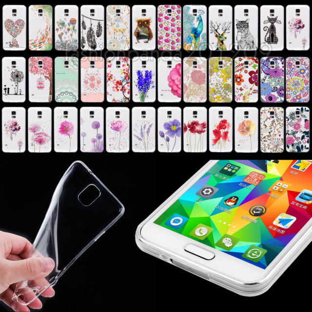 Clear UltraThin TPU Soft Beauty Flower Case Cover Skin For Samsung Galaxy S4 S5