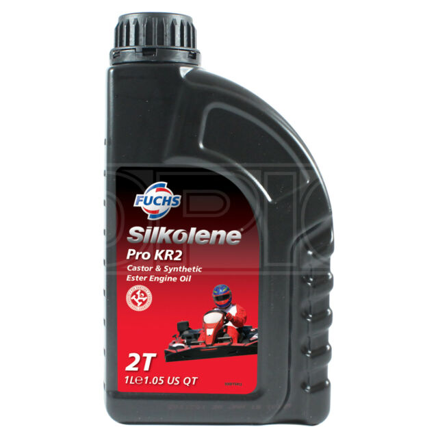 Silkolene PRO KR2 Castor & Ester Synthetic 2-Stroke 2T Engine Oil 1 LITRE 1L